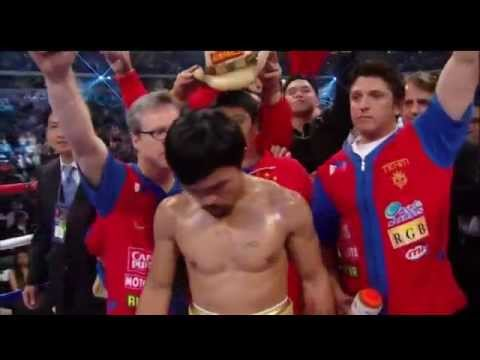 A simple tribute for our Manny Pacman Pacquiao after getting knocked out (2012) ...
