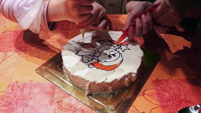 Торт-раскраска на Новый год