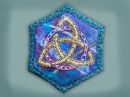 How to embroider a goldwork celtic knot