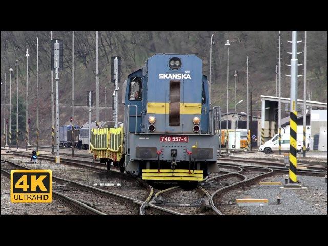 Vlaky Mladá Boleslav hl.n. 28.1.2018 (4K)