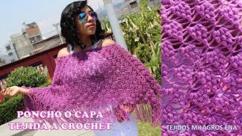 Poncho tejido a crochet para mujer, poncho fácil, capas y ponchos tejidos a crochet paso a paso