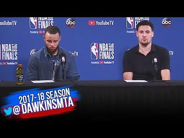 Stephen Curry Klay Thompson Postgame Interview Game 2 Warriors vs Cavs 2018 NBA Finals