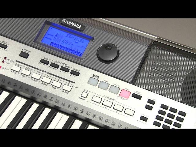 Транспонирование, выбор строя и общая подстройка на инструменте Yamaha PSR-E443