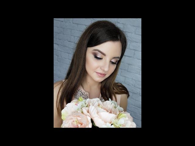 Нежный вечерний макияж/Сияющая кожа/ Персиковый макияж