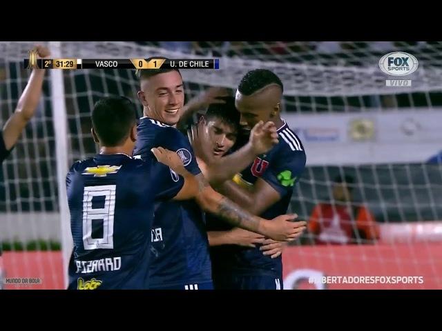 GOL DE ARAOS Vasco 0 x 1 Universidad Chile Libertadores 2018