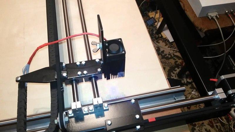 Лазерный ЧПУ выжигатель размером 1000/800мм