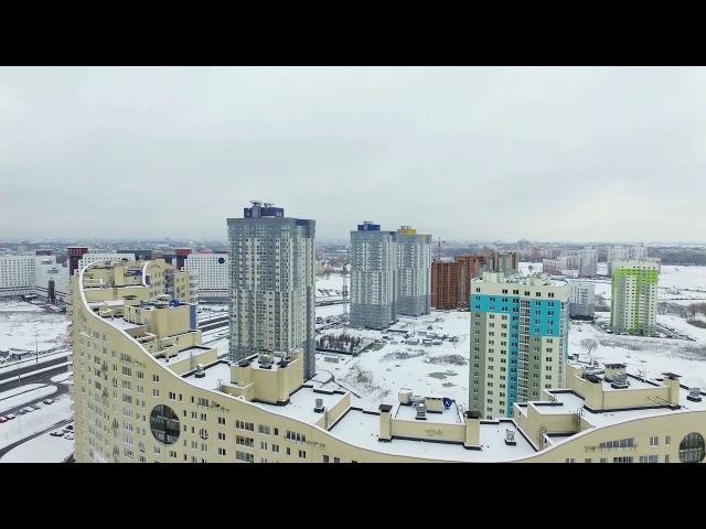 Аэраздымка. Прыгажосць Беларусі. Зімовы парк. Менск.
