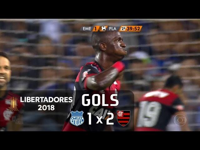 Gols Emelec EQU 1 x 2 Flamengo Libertadores 2018 Globo HD