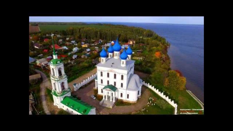 Катунки - храм над водой (Full-HD 1080, аэросъемка)
