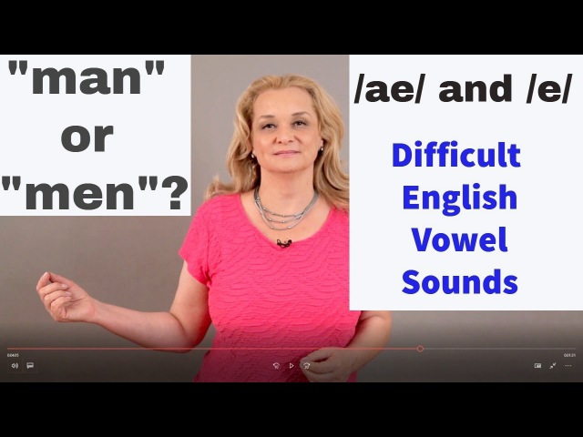 How to pronounce MAN versus MEN /ae/ and /e/ Confusing American vowel sounds| Accurate English