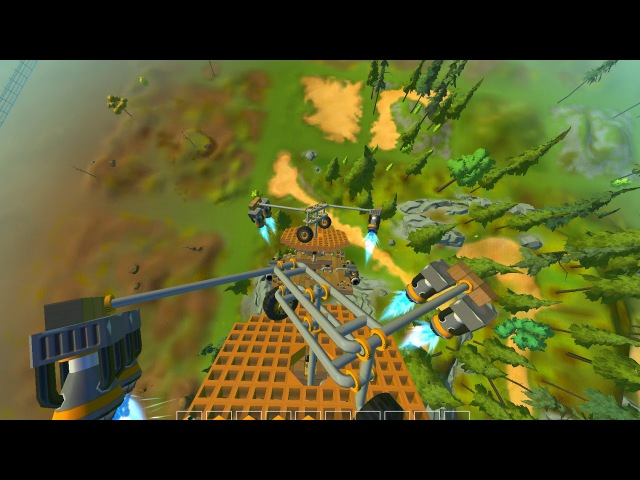 ScrapMechanic. Twin helikopter.