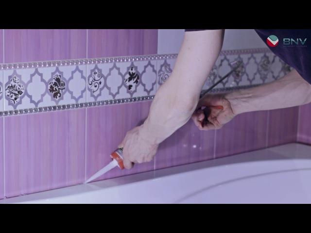 Акриловый плинтус для перекрытия зазора между плиткой и ванной