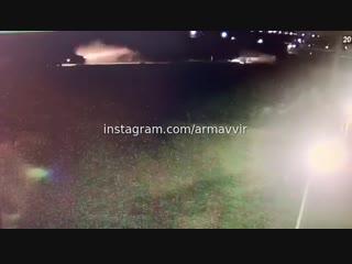 Камера сняла ДТП возле Урупского моста (между Линиями и Дивным) 10-11 февраля (Армавир)