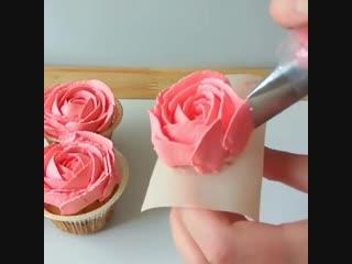 Розы из крем-чиза. Рецепт в описании | Больше рецептов в группе Десертомания