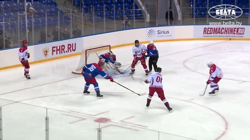 Команда Путина и Лукашенко победила в хоккейном матче в Сочи со счетом 16 1