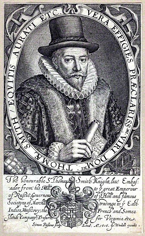 Сэр Томас Смит (1558-1625), гравюра 1617 года.
