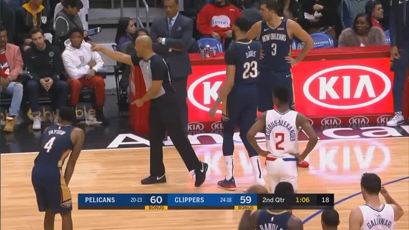 Patrick Beverley Steals Anthony Davis Shoe Then Gets A Technical Foul