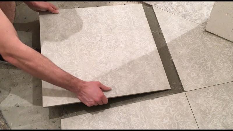 Как снять большую плитку не сломав ее