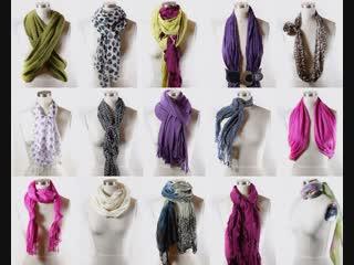 Красивые способы повязать платок, как раз в холодную пору!