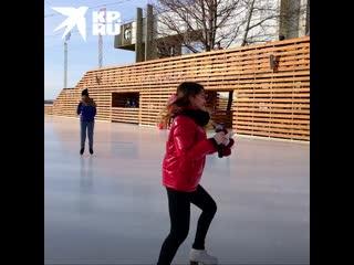 Как корреспондент КП училась кататься на коньках вместе с чемпионкой Европы Софьей Самодуровой