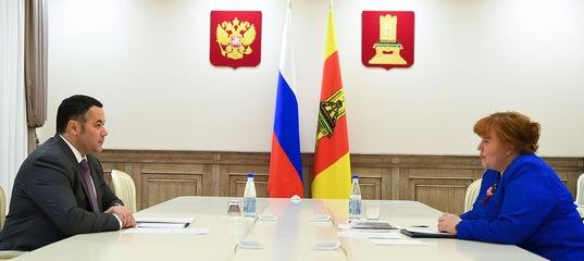 Игорь Руденя провел рабочую встречу с главой Кимрского района Ириной Мироновой
