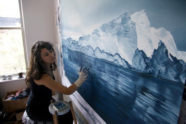 Невероятно реалистичные айсберги от Zaria Forman.