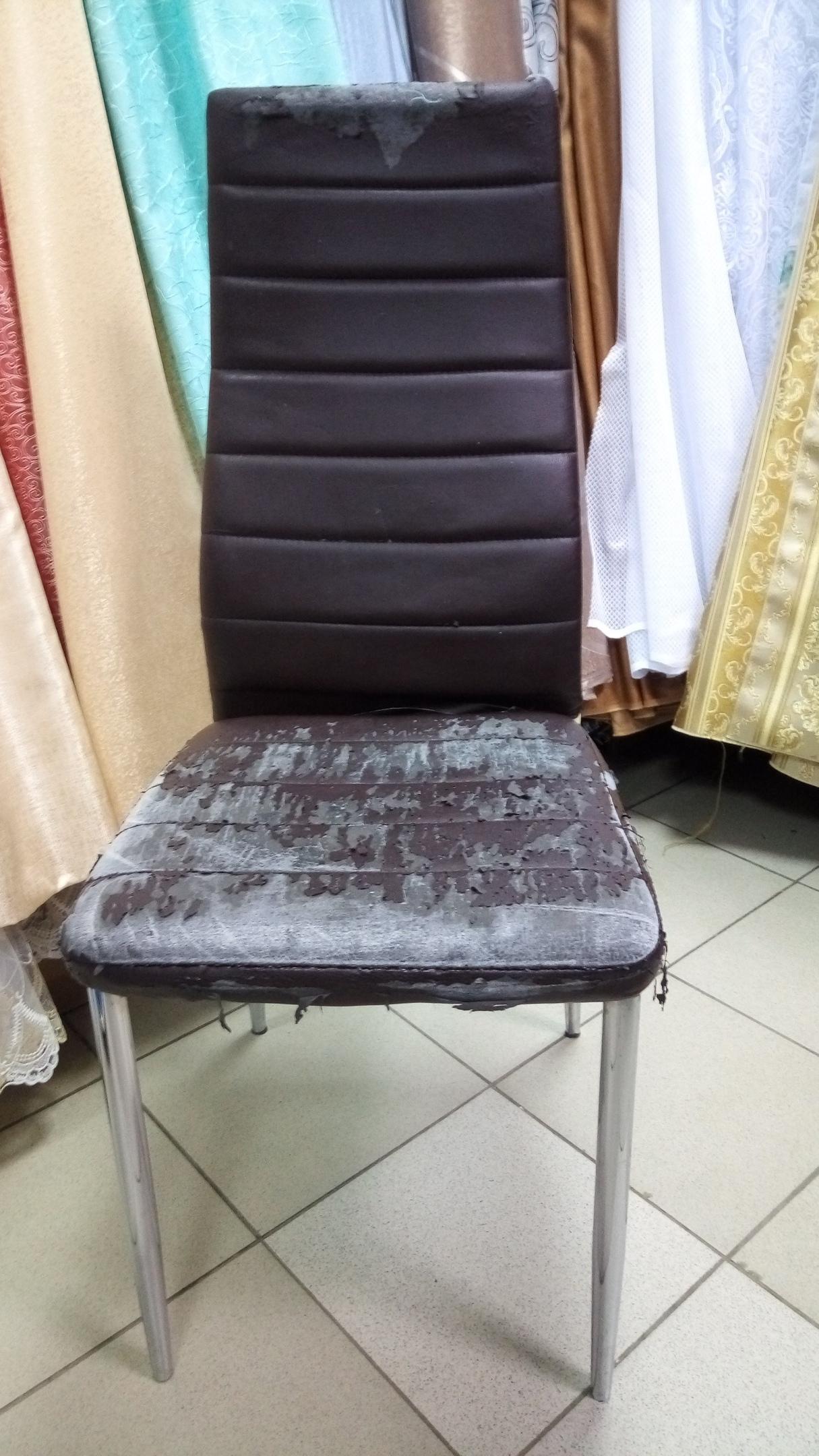 Не торопитесь выбрасывать удобные стулья, если их внешний испортился.