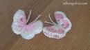 How to Crochet 3D butterfly (Eng sub) I Hướng dẫn móc con bướm kiểu 3D