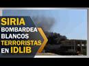 Aviones sirios bombardean blancos terroristas en Idlib