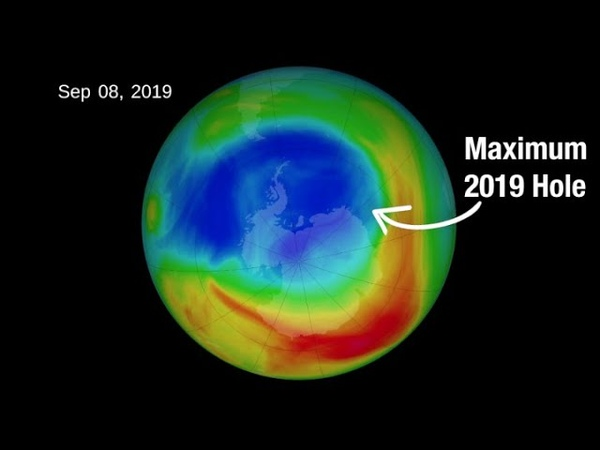 Unusual Winds Drive a Small 2019 Ozone Hole