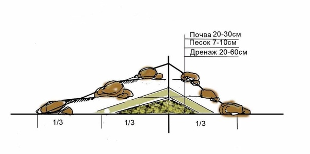 Альпийская горка на даче своими руками На приусадебном участке хочется иметь элемент ландшафта, который бы в любое время года радовал красотой и гармонией. Альпийская горка элемент ландшафта, на