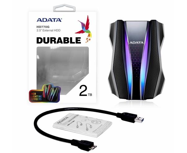 Внешний HDD ADATA HD770G со встроенной LED-подсветкой