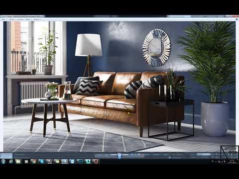 Визуализация интерьера в Corona Renderer от study-box.ru