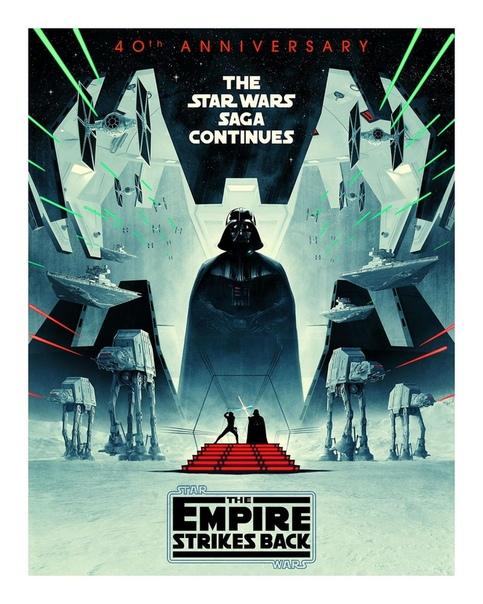 Disney опубликовали новый постер блокбастера «Империя наносит ответный удар» в честь 40-летия с момента релиза картины Лучшие «Звездные