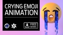 Cinema 4d - Crying Emoji Mograph Animation with FREE model download!
