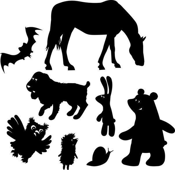 Шаблоны для театра теней Высококачественный шаблон в формате pdf прилагается под фото.Домашний театр теней замечательное развлечение для детей и взрослых, тем более что сделать его не так