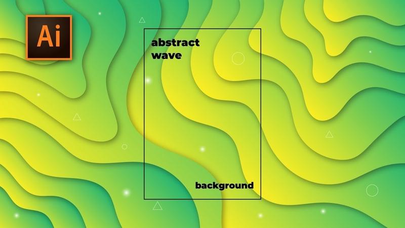 Tutorial Cara Membuat Modern Abstract Wave Paper Cut Fluid Liquid Background Adobe Illustrator CC 2
