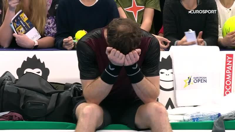 Маррей реализовал матчбол и сразу заплакал