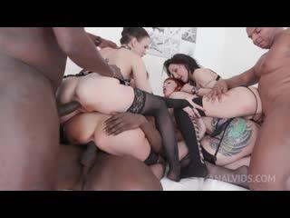 Kinky Anal Orgy with Kessie Shy, Lyna Cypher, Ally Style Nika KS002