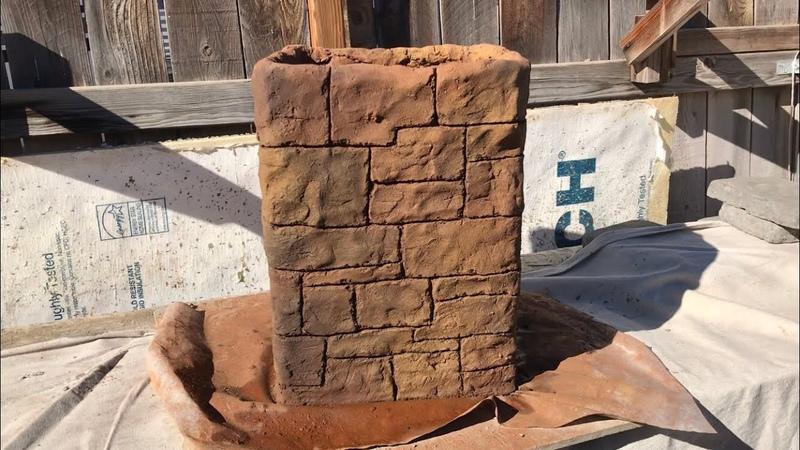 ESTAMPADO VERTICAL EN COLUMNAS how to stamp artificial stone