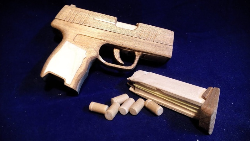 Shell Ejection Blow back Rubber Band Gun SIG P365 ブローバックするゴム銃 バレルイン&排莢アクション