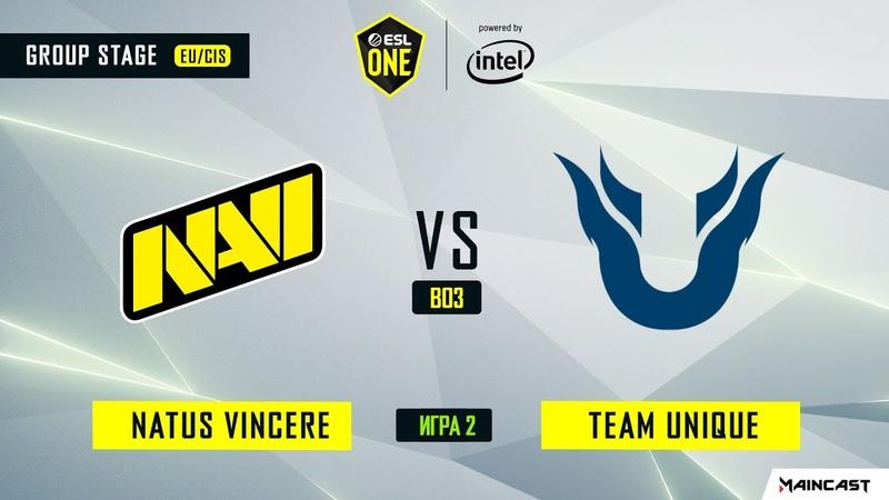 Natus Vincere vs Team Unique - Game 2, Group B - ESL One Los Angeles 2020 - Online Championship