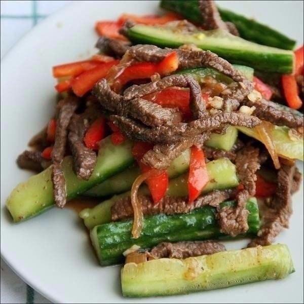 Огурцы с мясом по корейски, изображение №1