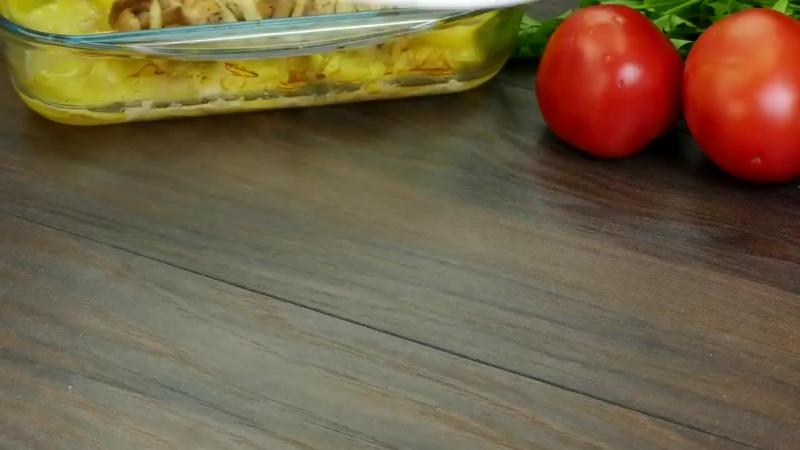Шашлычок из курицы в духовке с картошечкой