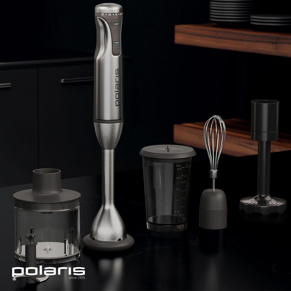 Блендер Polaris: сталь, качественный пластик и покрытие Soft Touch