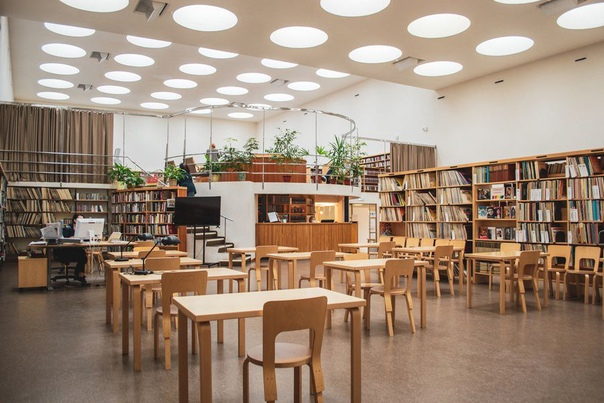 Зелёных обитателей учреждения библиотеки Алвара Аалто пер...