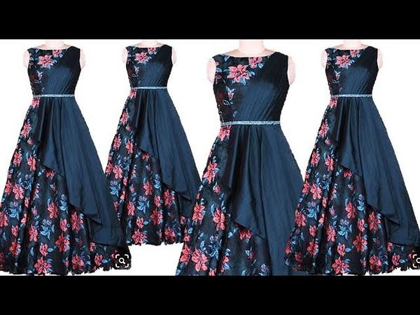 DIY Designer Long Gown Kurti Cutting And Stitching Full Tutorial