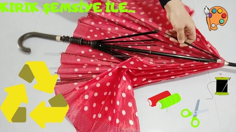 Geri Dönüşüm Fikirleri , Kırık Şemsiye ile ne yapılır , boyama önlüğü