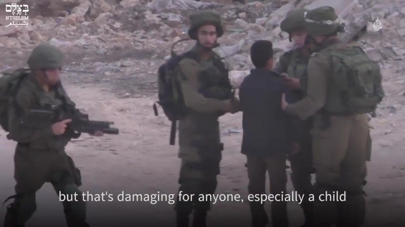 Palestinian kids are often handcuffed, blindfolded and abused during arrest by Israeli military.