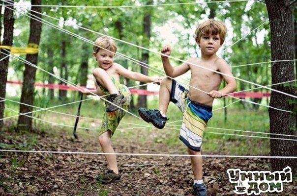 Супер идея для детских игр на даче!